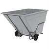 Akro-Mils Akro-Tilt Trk w/Fork Channels HD 400 Gal, Gray