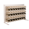 Akro-Mils ReadySpace Bnch Unt, 1-Sided w/48 Bins, White