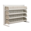 Akro-Mils ReadySpace Bnch Unt, 1-Sided w/4 Bins, White