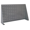 Louvered Bench Rack, 36L 8W 20H, Gray