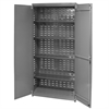 Unassembled Bin Cabinet, No Bins, Gray