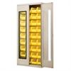 Akro-Mils Quick-View Bin Cabinet w/36 AkroBins, Beige/Yellow