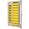 Quick-View Bin Cabinet w/18 AkroBins, Beige/Yellow