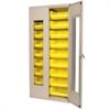 Akro-Mils Quick-View Bin Cabinet w/18 AkroBins, Beige/Yellow