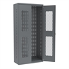 Secure-View Bin Cabinet 36x18x78 No Bins, Gray