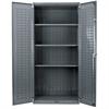AkroBin Cabinet 24D, 3 Shelves, Gray/Yellow