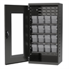 Quick-View Door Mini Cabinet 16 Drawers, Gray/Clear