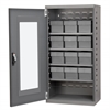 Quick-View Door Mini Cabinet 12 Drawers, Gray