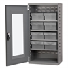 Quick-View Door Mini Cabinet, 8 Drawers, Gray