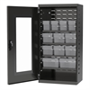Quick-View Door Mini Cabinet 12 Drawers, Gray/Clear