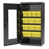 Akro-Mils Quick-View Door Mini Cabinet 12 Drawers, Gray/Yellow
