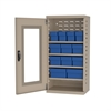 Quick-View Door Mini Cabinet 12 Drawers, Putty/Blue
