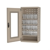 Akro-Mils Quick-View Door Mini Cabinet 12 Drawers, Putty/Clear