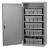 Steel Door Mini Cabinet, 16 Drawers, Gray