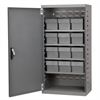 Akro-Mils Steel Door Mini Cabinet,  12 Drawers, Gray/Clear