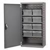 Akro-Mils Steel Door Mini Cabinet,  8 Drawers, Gray