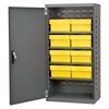 Akro-Mils Steel Door Mini Cabinet,  8 Drawers, Gray/Yellow