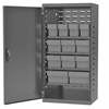 Steel Door Mini Cabinet, 12 Drawers, Gray