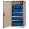 Akro-Mils Steel Door Mini Cabinet,  16 Drawers, Putty/Blue