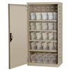 Akro-Mils Steel Door Mini Cabinet,  16 Drawers, Putty/Clear