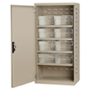 Steel Door Mini Cabinet, 8 Drawers, Putty/Clear