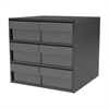 Modular Cabinet, 18x17x16, 6 Drawers, Gray