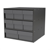 Akro-Mils Modular Cabinet, 18x17x16, 8 Drawers, Gray
