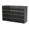 Stackable Cabinet, 35x11x22, No Drawers, Gray