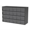 Stackable Cabinet, 35x11x22, 24 Drawers, Gray