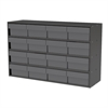 Akro-Mils Stackable Cabinet, 35x11x22, 16 Drawers, Gray