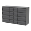 Stackable Cabinet, 16 Asst Drawers, Gray