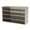 Stackable Cabinet, 35x11x22, No Drawers, Putty
