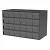 Stackable Cabinet, 35x17x22, 24 Drawers, Gray/Clear