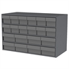 Akro-Mils Stackable Cabinet, 35x17x22, 16 Drawers, Gray
