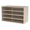 Stackable Cabinet, No Drawers, Putty, Putty
