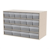 Akro-Mils Stackable Cabinet, 35x17x22, 20 Drawers, Putty/Clear