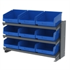 Bench Pick Rack, w/ 16 ShelfMax, Gray/Blue