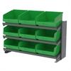 Akro-Mils Bench Pick Rack, 24 ShelfMax, Gray/Green