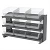 Bench Pick Rack, w/ 24 ShelfMax, Gray/Clear