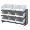 Akro-Mils Bench Pick Rack, 24 ShelfMax, Gray/White