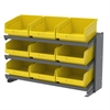 Bench Pick Rack, w/ 24 ShelfMax, Gray/Yellow