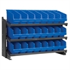 Bench Pick Rack, w/ 24 ShelfMax, Gray/Blue