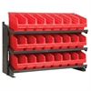 Akro-Mils Bench Pick Rack, w/ 24 ShelfMax, Gray/Red
