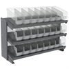 Akro-Mils Bench Pick Rack, w/ 24 ShelfMax, Gray/Clear