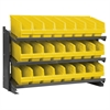 Akro-Mils Bench Pick Rack, 24 ShelfMax, Gray/Yellow