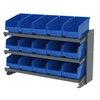 Akro-Mils Bench Pick Rack, w/ 15 ShelfMax, Gray/Blue