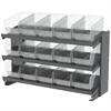 Bench Pick Rack, 15 ShelfMax, Gray/Clear
