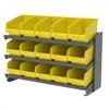 Akro-Mils Bench Pick Rack, w/ 15 ShelfMax, Gray/Yellow