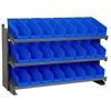 Akro-Mils Bench Pick Rack w/ 24 Shelf Bins, Gray/Blue