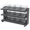 Akro-Mils Bench Pick Rack, w/ 12 Shelf Bins, Gray/Clear